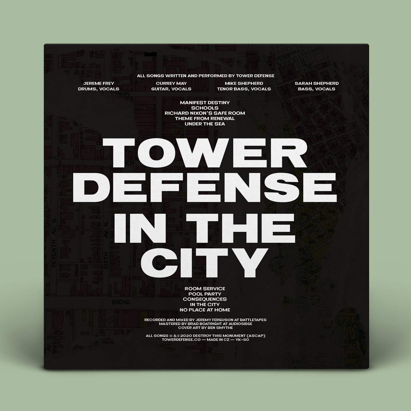Tower Defense - In The City LP Back